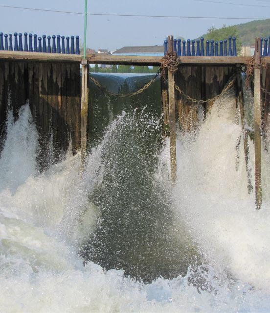 Fonctionnement du barrage à aiguilles